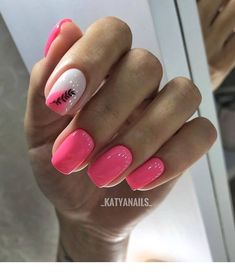 Discover new and inspirational nail art for your short nail designs. Learn with step by step instructions and recreate these designs in your very own home. Hot Nails, Pink Nails, Hair And Nails, Stylish Nails, Trendy Nails, Nail Manicure, Nail Polish, Pedicure, Pink Nail Designs