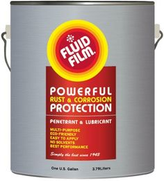 Fluid Film Gallon  Rust Preventive Lubricant  Solvent Free, will not dry out. Long Lasting  Environmentally friendly. Lanolin based. Clean.  Anti freezing agent. Geat for snow blower chutes.  Great undercoating rust preventive for cars and trucks
