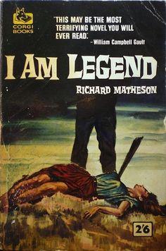 I Am Legend horror paperback cover (1954) by Richard Matheson