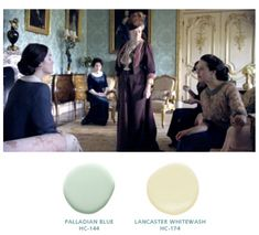 downton abbey drawing room paint colour