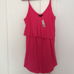 Forever21 dress Never worn. Still with tag. Hot pink. Size L Forever 21 Dresses
