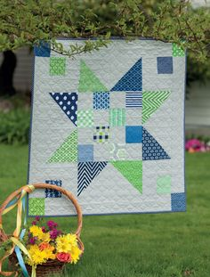 Big Baby quilt pattern from the book Vintage Vibe by Amber Johnson
