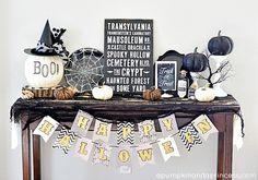 Table Halloween Deco