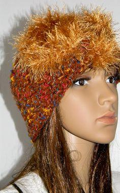 Embelished Crochet Head Warmer Handmade Crochet Hair by MarkofMary, $12.95