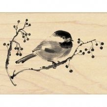 Penny Black Ode To Christmas - Rubber Stamp. This Penny Black wood mounted rubber stamp features a bird on a branch. Penny Black Karten, Penny Black Cards, Penny Black Stamps, Christmas Bird, Christmas In July, Christmas Ideas, Thing 1, Bird On Branch, Wood Stamp