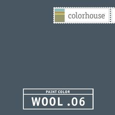Colorhouse WOOL .06 - A tweak on the calssic navy. A drop of white makes this color softer and more liveable. Go traditional by using this color in a kitchen with lots of white or make a statement in a small powder room or entry.
