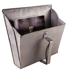 Antique Metal Dust Pan Post MailBox Storage - Primitive Décor - - Amazon.com