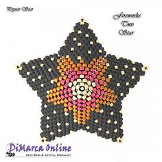 Tutorial Fireworks Two 3D Peyote Star + Basic Tutorial Little 3D Peyote Star (download link per e-mail) - DiMarca Online