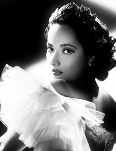 """Actress Merle Oberon - a unique and exotic beauty perhaps best known for her role as Cathy Earnshaw in William Wyler's acclaimed adaptation of """"Wuthering Heights"""" (1939), opposite Laurence Olivier. Other films include: """"The Scarlet Pimpernel"""" (1934), """"Lydia"""" (1941), """"These Three"""" (1936), and """"The Dark Angel"""" (1935), for which she was nominated for an Academy Award for best actress."""