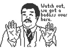 Watch out we got a Badass over here cross stitch by pickleladyfarm, $5.00