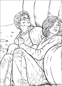 Harry Potter and the Prisoner of Azkaban (1999). Coloring Book Page.