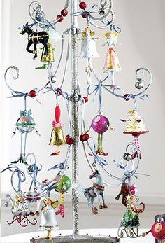 Krinkles Jingle Bells Collection ~~ Jingle Bell Mini Ornaments Set of 22