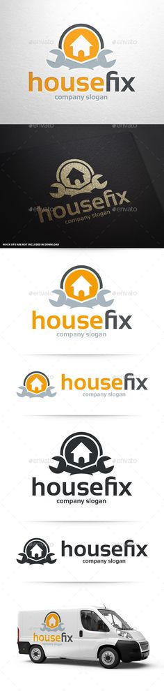 House Fix Logo Template #home #house #plumber #repair #renovation #services #construction #logo #logodesign #vector #wrench #tool