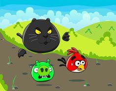 Hungry Cats ( Angry Birds ) by nefertiset.deviantart.com #angrybirds
