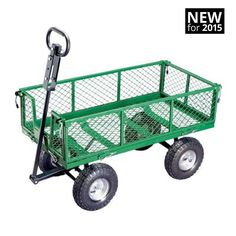 Gorilla 2-in-1 Utility Cart  removable folding side walls  Load Capacity:800 lbs #GorillaCarts