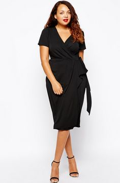 thecurvy.me. from target - ASOS Curve Plus Size Wrap Dress