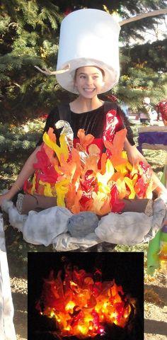 Glowing Campfire & Marshmallow Roasting Costumes   Costume Pop   Costume Pop