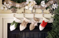 Mini-Fish Stockings for Cats Burlap Pet Stocking by BurlapBabe 11 inches, $27