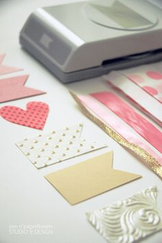 Love this Flag Paper Punch from @The TomKat Studio