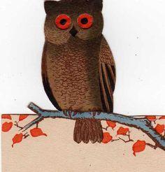 halloween owl (artist unknown)