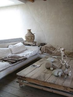 rustic low coffee table