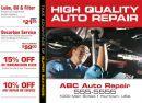 Auto Repair Templates Mechanic Under Car Four Offers Sample Postcard