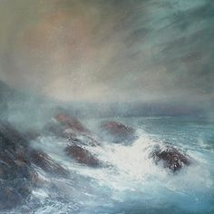 'Released From Expectations' is off to a new home!  #painting #seascape #pembrokeshire #wales #artist #art #sarahjanebrown
