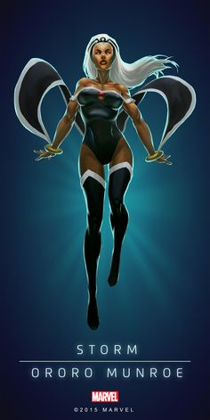 #Storm #Fan #Art. (STORM - ORORO MUNROE - MODERN IN: MARVEL'S PUZZLE QUEST!) BY: AMADEUS CHO! (THE * 5 * STÅR * ÅWARD * OF: * AW YEAH, IT'S MAJOR ÅWESOMENESS!!!™)[THANK Ü 4 PINNING<·><]<©>ÅÅÅ+(OB4E)(IT'S THE MOST ADDICTING GAME ON THE PLANET, YOU HAVE BEEN WARNED!!!)