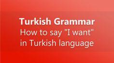 How to say I want in #TurkishLanguage #LearnTurkish #TurkishLearning #LanguageLearning