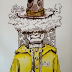 Inktober day 19 -Cloud- #inktober #inktober2017 #inktoberday19 #inktoberprompts #ink #penandink #brushandink #brushpen #copic #bmitchleyart #koibrushpen #cloud #character #comic #southafricanartist #southafrican #southafrica #artist #artistoninstagram #art #illustration #dailysketch #bunny #hungry #male #drawingink #rain #hat #raincoat Rain Hat, South African Artists, Brush Pen, Copic, Inktober, Master Chief, Bunny, Clouds, Photo And Video