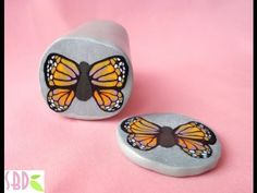 ▶ Millefiori cane Farfalla - Butterfly millefiori cane (polymer clay) by SweetBioDesign