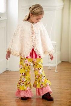 Peaches and Cream Ivory Lace Cape
