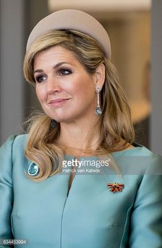 Queen Maxima of The Netherlands visits Spinlab start up accelerator during their 4 day visit to Germany on February 09 2017 in Leipzig Germany