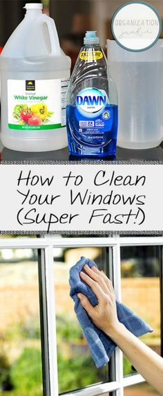 You won't believe this homemade window cleaner! Spring Cleaning Tips and Hacks
