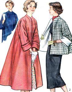 1950s Coat Pattern Simplicity 4191 Womens Kimono by paneenjerez, $9.00