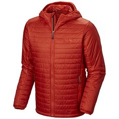 Mountain Hardwear Thermostatic Hooded Jacket  Mens Flame XXLarge -- Click image for more details. (Amazon affiliate link)