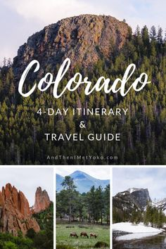 "This travel guide and itinerary to Colorado. The itinerary includes stops in Denver, Colorado Springs and Rocky Mountain National Park. Travel photography and guide by © Natasha Lequepeys for ""And Then I Met Yoko"". Estes Park Colorado, Aspen Colorado, Denver Colorado, Colorado Mountains, Colorado Hiking, Colorado Springs, Breckenridge Colorado, Oahu, Tulum"