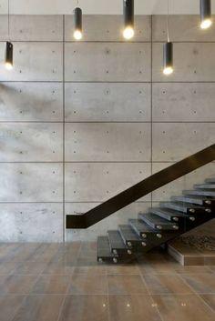concrete walls in interior design modern staircase design ideas railing ideas Diy Design, Beton Design, Design Ideas, Modern Staircase, Staircase Design, Interior Stairs, Interior Architecture, Interior Paint, Casa Bunker