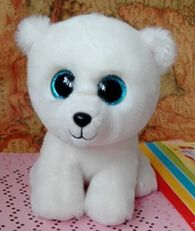 "2015 new style Beanie boo TY big eyes bright eye polar bear doll 15cm (5.91 "") plush toys boo doll for girls ABC100"