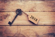 Countdown New Year 2018 Key Chain