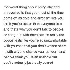 The worst thing about being shy