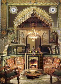Moroccan L U X U R Y - Yves Saint Laurent's home originally designed in 1924 by French artist Jacques Majorelle, Marrakech. Modern Home Interior Design, Interior Design Images, Interior And Exterior, Exterior Design, Moroccan Design, Moroccan Decor, Moroccan Style, Marrakech, Tangier