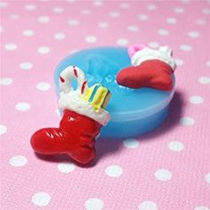 Christmas Boots Gift Socks Fondant Silicone Mold for Polymer Clay by UIE on Amazon
