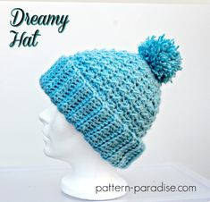 12 Weeks of Christmas #CAL 2017, soft hat on Pattern-Paradise.com #12WeeksChristmasCAL #patternparadisecrochet #crochet #hat #beanie