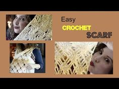 Easy Diamond and chains Ombre Crochet Scarf - YouTube