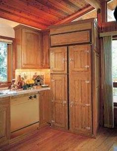 Custom Made Refrigerator Wood Panels: To Match Your Kitchen Cabinets
