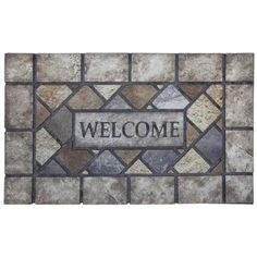 Mohawk Home Symphony Welcome 18 in. x 30 in. Recycled Rubber Door Mat-405588 - The Home Depot