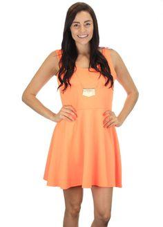 Plus Orange Necklace Dress #wholesaleclothing #wholesaleboutiqueclothing #wholesaleplusclothing