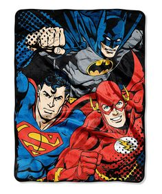 Another great find on #zulily! Justice League Throw Blanket by Justice League #zulilyfinds