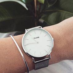 "CLUSE on Instagram: ""Great shot by @nikkileeyen #CLUSE #watch #mesh #silver #minimal #blogger #fashion #style"""